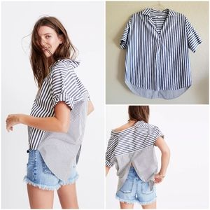 Madewell Courier Button Back Shirt Small